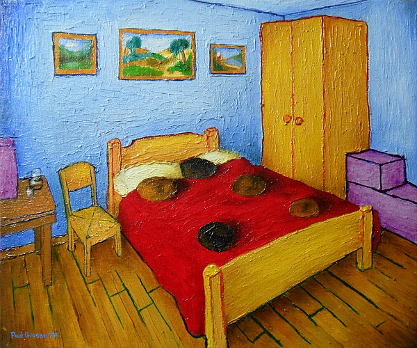 'The Bedroom at Derby' - 25.4x30.5cm - oil on canvas panel. Copyright (c)2017 Paul Alan Grosse