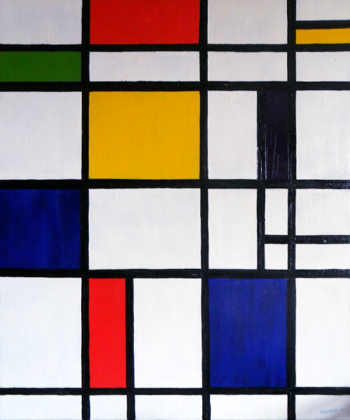 Every home needs a Mondrian and if you can't buy one, make one of your own. Copyright (c)2005 Paul Alan Grosse