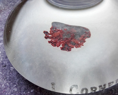 Cinnabar pigment in its granular state. Copyright (c)2020 Paul Alan Grosse